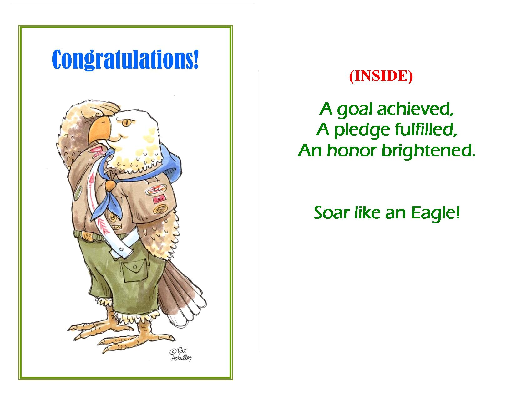 Eloquent image inside eagle scout congratulations card printable