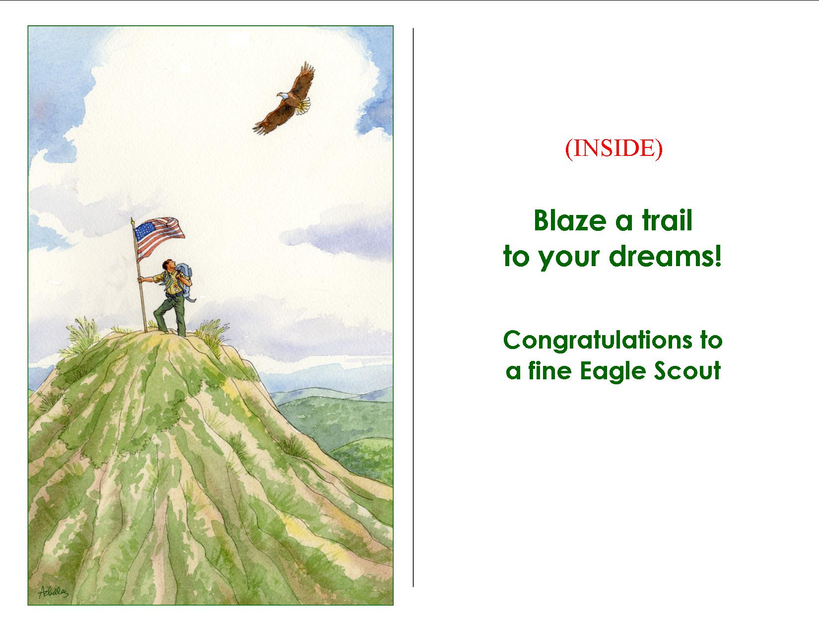 Eagle Scout On Hilltop Card